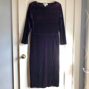 Vintage Ronni Nicole Purple Velvet Formal Dress